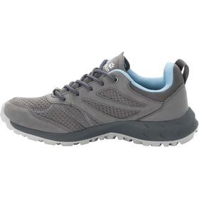 Jack Wolfskin Woodland Texapore Low Shoes Women, grey/light blue